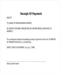 7 Receipt Of Payment Letters Pdf Sample Templates