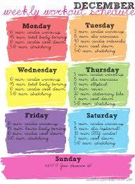 weekly workout schedule resume work out albertine truchon