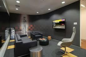 modern office wallpaper. Casual Modern Office Design With Cool Wallpaper