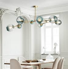 replica lindsey adelman branching bubble chandelier brass