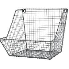 metal wall basket wall hanging wire baskets 7 stylish mounted rack best ideas on metal wall baskets uk