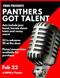 Talent Show Is This Friday Feb 22 Frank Black Middle