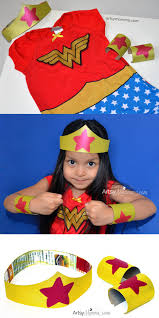 imaginative play with kids diy wonder woman tiara and bracelets