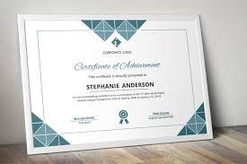 Corporate Certificate Template Geometric Shapes Modern Word Event Certificate Template