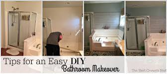 Tips For An Easy DIY Bathroom Makeover - Bathroom makeover