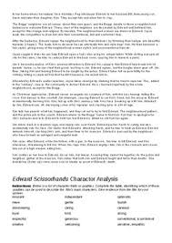 edward scissorhands analysis and essay prep resources by sideshowmatt edward scissorhands analysis and essay prep resources