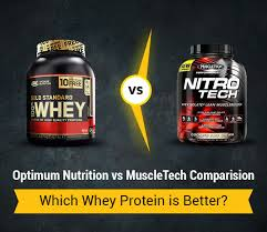 Optimum Nutrition Comparison Chart Optimum Nutrition Vs Muslcetech Which Whey Protein Is