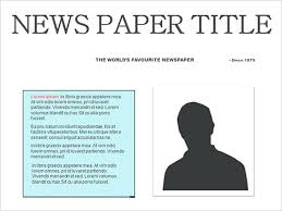 Microsoft Newspaper Template Free Newspaper Outline Word Layout Template For Microsoft 2010