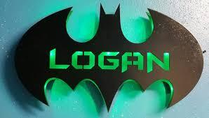 Batman Personalized Sign Batman Bat Cave Lighted Sign