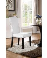 pleasant leather dining chairs with nailheads amazing nailhead room deals milton trim white parson chair single