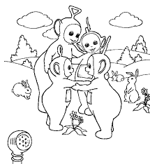 Small Picture Free Printable Teletubbies Coloring Pages teletubbies work