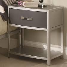 white metal furniture. Metal Nightstand With Drawer: Essential Nightstands Decor White Furniture