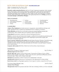 Resume Template For Retail Store Manager Linkv Net