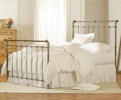 white metal queen bed. Beautiful Queen Iron U0026 Brass Sleigh Bed  Vintage White Queen For Metal N