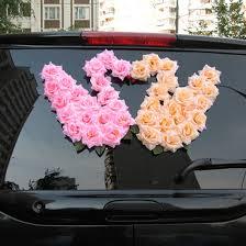 Wedding Car Decorations Accessories Łabądki Wtf Dekoracje samochodów Pinterest Wedding car 93