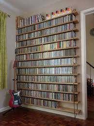 ... Wall Shelves For Cds Long Iron Holder Square Brown Portable Rack  Varnished Furniture Antique Design Thin ...