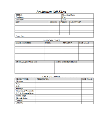 call sheet template excel production call sheet template excel oyle kalakaari co