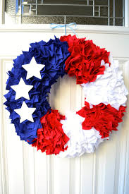 patriotic wreaths for front doorFun 4th of July Crafts  Stars and Stripes Front Door Wreath