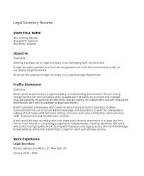 Objective For Legal Assistant Resume Department Secretary Resume Unit Secretary Resume Legal Clerk 77