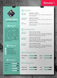 Resume Cv Template 9 Free Professional Cv Cover Letter Freebie