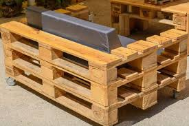 pallet furniture garden. When Upcycling Wooden Pallets, The Possibilities Are Endless It Comes To Furniture. This Pallet Couch Has Arm Rests That Could Double As A Small Furniture Garden T