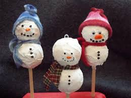 Snowman Christmas ornament craft ideas