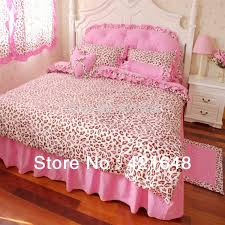 luxury 3 4pcs pink leopard bedding set twin