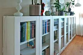 bookcase with glass doors billy door bookcases review ikea oxberg