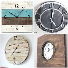 round up 16 pallet clock tutorials