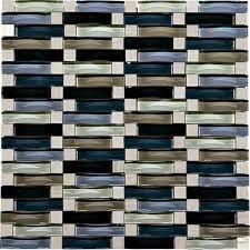 attractive menard backsplash mohawk phase mosaic stone and glass wall tile 58 x 2 wave at