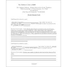 Doctor Excuse Letter Template Free Doctor Notes Jury Duty Excuse
