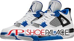jordan shoes retro 4. jordan retro 4 motorsports mid mens lifestyle shoe (white/royal blue/black) free shipping shoes