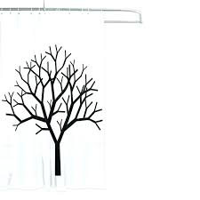 of life shower curtain inch tree home decoration bathroom fork curtains white background with hook in