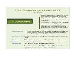 project management quick reference guide project 2010 quick reference guide template for word 2010 or newer