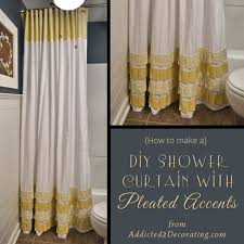 How To Change The Dcor Of Your Bathroom With A Simple DIY Shower Curtain -  15 Ideas