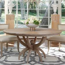 oak sandblasted round dining table 60 the designer insider