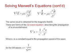 solving maxwell s equations cont d