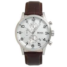 mens hugo boss black stainless steel watch leather strap 1512447 hugo boss mens leather watch 1512447