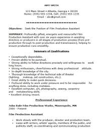 film resume samples free film production assistant resume template sample ms word film