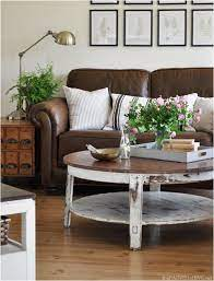 decorating around a leather sofa