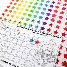 Superstar Weekly Reward Chart Youngever 4800 Reward Star Stickers 18 Designs Star Labels For Kids Reward Stickers Mega Variety Pack Incentive Stickers For Teacher Supplies
