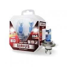 <b>Лампа</b> галогенная <b>AVS</b> SIRIUS NIGHT WAY <b>H4</b>.12V.60/55W Plastic ...
