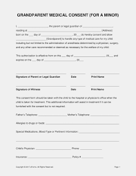 Free Printable Medical Consent Form For Minor Child Resume Fascinating Printable Medical Release Form For Children