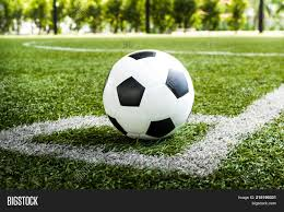 soccer field templates powerpoint template soccer football on corner kick line of ball and