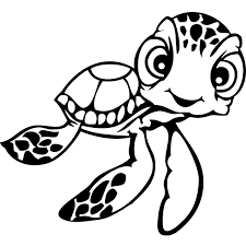 Finding Nemo Coloring Pages Squirt Sea Turle Coloringstar