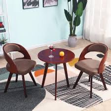 reese solid wood leisure discussion table and chairs reception small round table nordic simple reception table and chairs set round discussion table and