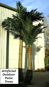 fake outdoor trees artificial outdoor palm trees uk