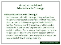 Low cost or no cost health insurance coverage that is managed by each state. Private Health Insurance Protections The Health Insurance Portability