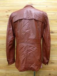 vintage leather jackets members only red m size used men s outerwear leather jean leather jacket