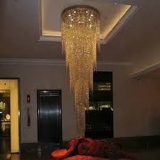 well liked long modern chandelier with new design long modern crystal chandelier led light 5 layers